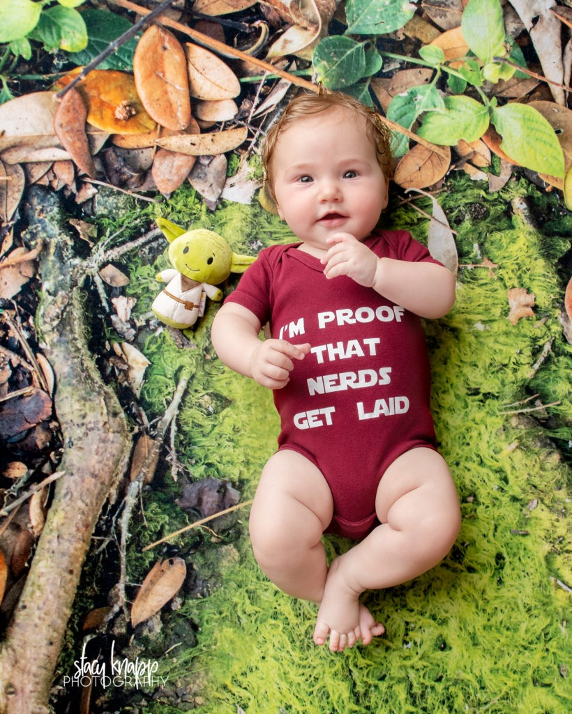 Baby girl photographed in