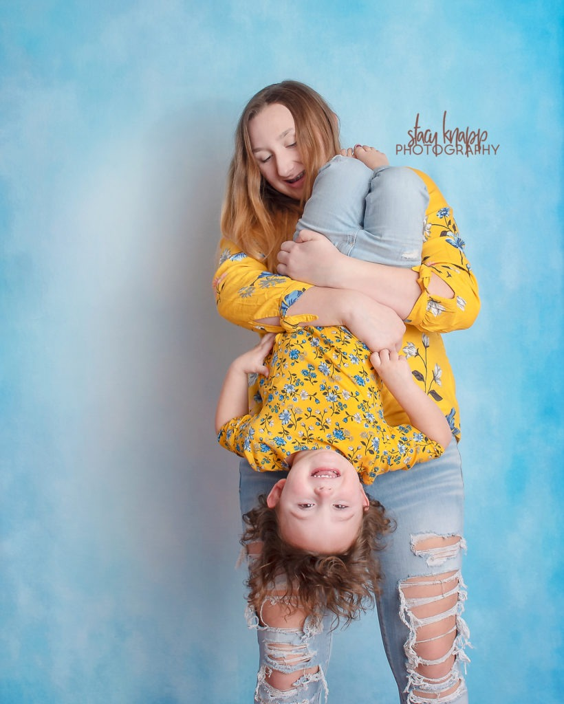 Sisters at birthday photography session