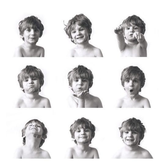9 photographs of little boy